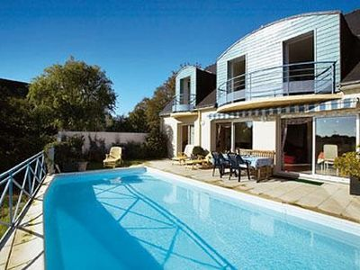 Photo for Modern house with sea view BAY QUIBERON and private POOL