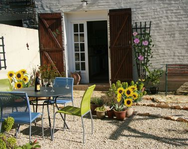 Sunny garden area. Perfect for a barbeque