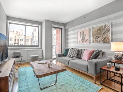 Photo for Beautiful Chelsea 1BR w/ Balcony, Doorman + Gym by Blueground
