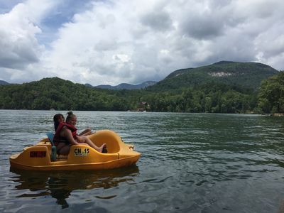 Pedal Boat included in Turtle House rental