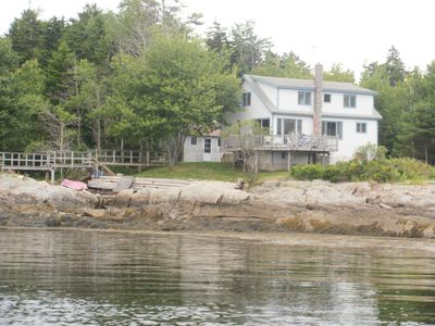 Photo for Private Ocean Front property with bathing cove and deep water swimming