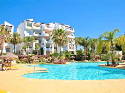 Photo for Modern two bedroom apartment with WIFI and Air-con, Close to beach between Estepona & San Pedro