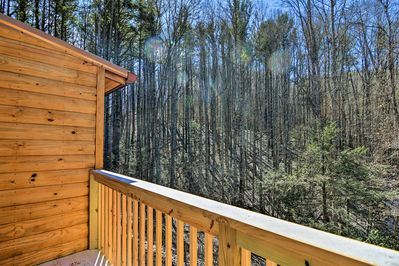 All of town's conveniences are a quarter-mile walk from this vacation rental.