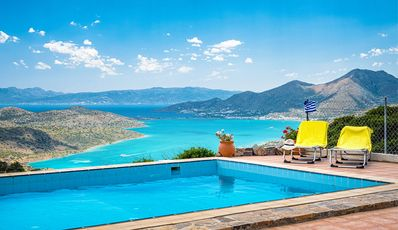 Photo for Villa Thea located in unique area with view to Spinalonga and private pool