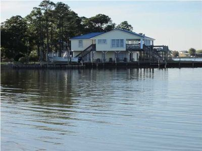 Photo for The whole crew - dauphin island waterfront home on beautiful little dauphin bay