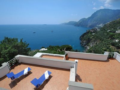 Photo for Villa Valeria with amazing sea view , large terraces and direct access to the beach of Laurito