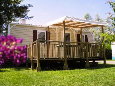 Photo for Camping Les Portes du Beaujolais **** - Mobile home Super Mercure 3 Rooms 4/6 People