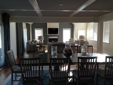 Spacious great room with adjoining Kitchenette , study, deck with ocean view
