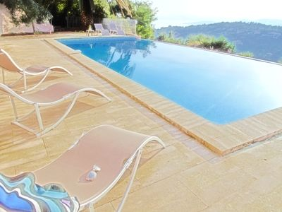 Photo for Beautiful house, private pool, splendid view - PROMO GRANDE BRADERIE ST TROPEZ