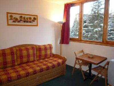 Photo for Les Arcs 1800 functional studio of 15 m² on the slopes - stunning mountain views