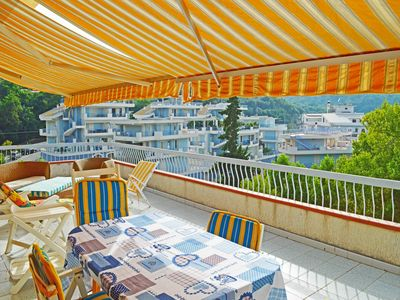 Photo for Beautiful apartment 150 meters from the sea with a large terrace overlooking the sea for 8