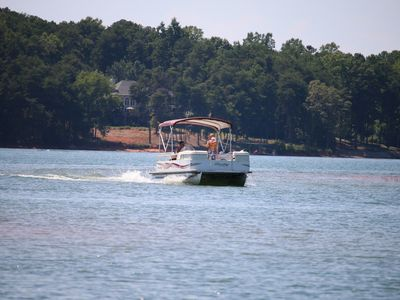 Photo for ANDERSON, SC - LAKEFRONT NEAR GREENPOND & GOLF COURSE -FIREPIT/PONTOON RENTAL