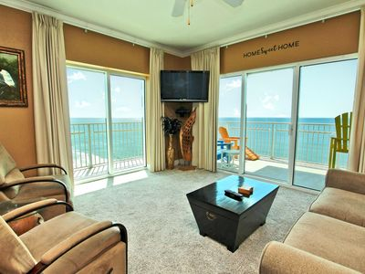 Photo for Crystal Shores West 1201 - Beautiful Gulf Front Corner Unit with Wrap-around Balcony!