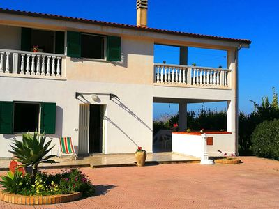 Photo for Spacious apartment on the first floor in Ricadi, with garden and terrace.