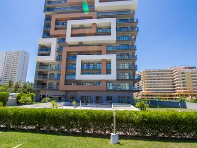 Photo for T1 FANTASTICO Rocha Tower, Sea View with Pool and Garage