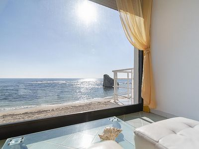 Photo for Casa Fedra: A bright and sunny one-story apartment located right on the beach, with Free WI-FI.