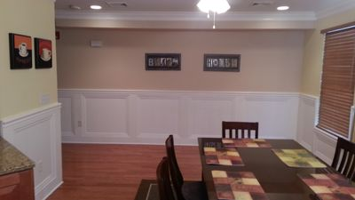 Dining and living area leaves plenty of room for family gatherings.