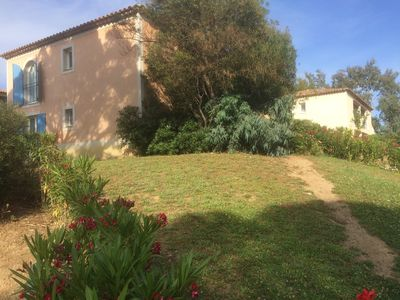 Photo for Ste Maxime Apt 6 pers ground garden residence with pool near center + beach