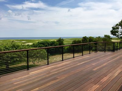 Large deck with 180 degree ocean view