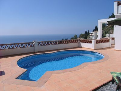 Photo for New Villa upscale accommodations private heated pool stunning sea views