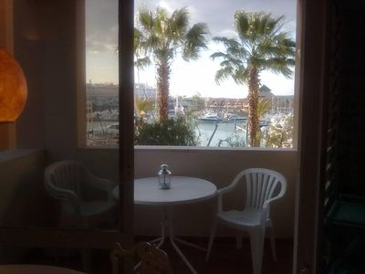 Photo for Excellent apartment-AC-front view over Vilamoura Marina + parking