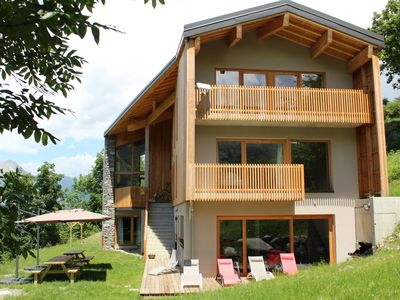 Photo for Chalet **** the 1000 Thabor space, comfort, charm, view, fireplace, sauna