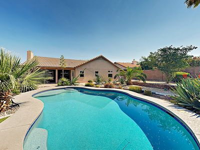 Photo for New Listing! Desert Oasis w/ Pool, Outdoor Dining, Fire Pit & 2 Living Areas