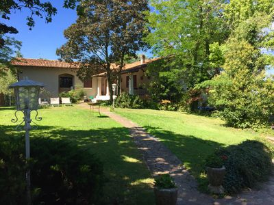 Photo for MAESTOSA VILLA A POCHI KM FROM GARDA LAKE WITH LARGE GARDEN AND 2 PORTICATES