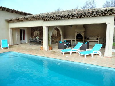 Photo for Beautiful private villa with WIFI, private pool, TV, washing machine, pets allowed and parking
