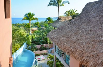 View of the Ocean and the private pool from the bedrooms