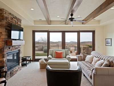 Photo for What A View!  Golf, Swim, Hike, Bike, Close to Zions. Sleeps 9