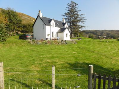Photo for Superbly restored croft house overlooking the White Sands of Morar