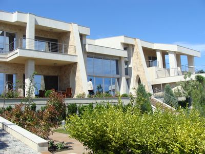 Photo for Designer 600m2 sea view house with pool and tennis court, Sozopol