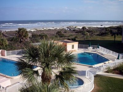Saint Augustine Beach Fl., lovely view of Atlantic Ocean and wide beach
