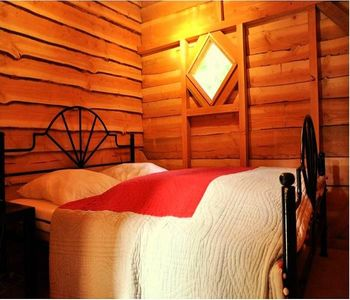 Photo for Camping du Viaduc ** - Perched Hut 2 Rooms 2/4 People