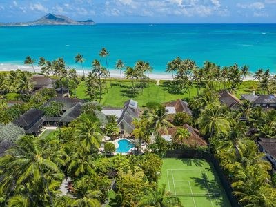 Photo for Large Private Luxury Home w/Pool, A/C and Ocean Views. Kailua Shores Estate.