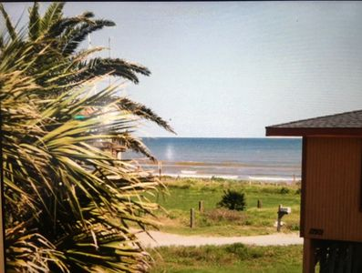 The view from the deck is so nice!  The sounds of the ocean can't be beat.