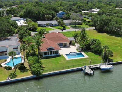 Photo for Spacious Sarasota Waterfront Pool Home with Dock - Amazing Sunsets Included