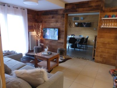Photo for very nice apartment 2 ° floor 4 bedrooms 2 bathrooms garage chalet style