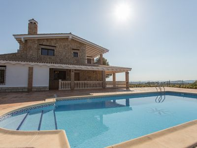 Photo for New VILLA with pool in Navarrés mountains