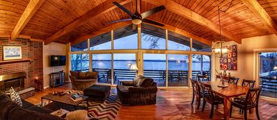 Photo for Spacious Lakefront Property with Private Dock on Seneca Lake Wine Trail