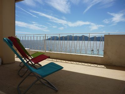 Photo for CANNES 4persons, sea view and Esterel view, terrace