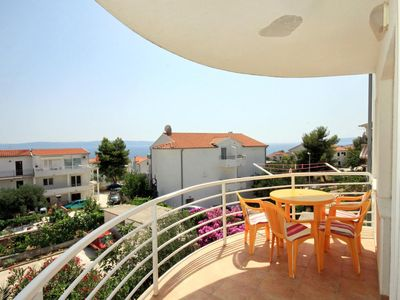 Photo for One bedroom apartment with balcony and sea view Rastići (Čiovo)