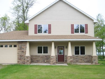 Photo for Sunset Bay Getaway - Beautiful Home on Mille Lacs Lake, SAND BEACH!