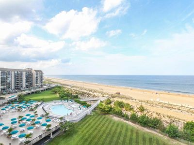 Photo for F812: Updated 2BR+den Sea Colony oceanfront condo! Private beach, pools, tennis ...