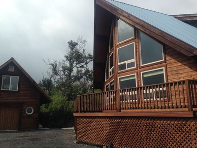 Photo for Quite, A-frame log home. Nestled on 2 acres of fruit trees and flowers.