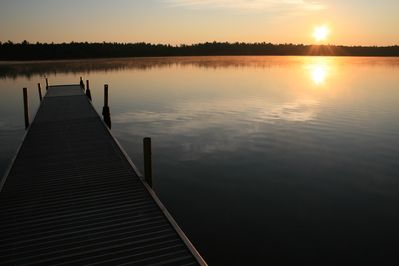Sunrise from our dock