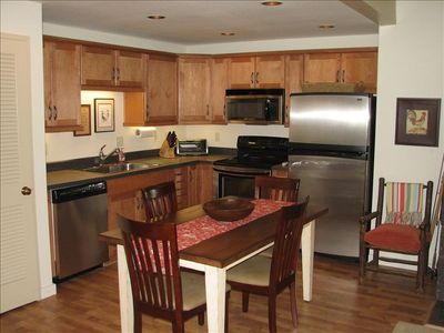 Freshly remodeled, well stocked stainless kitchen