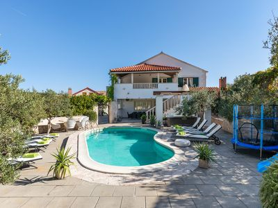 Photo for Luxury house with pool,jacuzzi, kids playgro,barbecue,tranpoline,free parking...