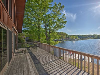 Photo for Harrisville House on Lake Bonaparte w/Deck & Dock!